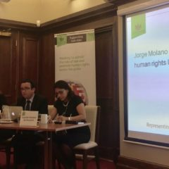Beyond the peace-agreement: Jorge Molano talks at the Law Society