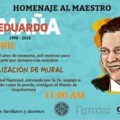 Eduardo Umaña M. 20 años de memoria – Realización de Mural UN
