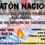 VELATÓN INTERNACIONAL POR CADA UNA DE LAS PERSONAS ASESINADAS 2018 EN COLOMBIA