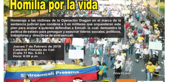 Homenaje a las víctimas de Operación Dragón