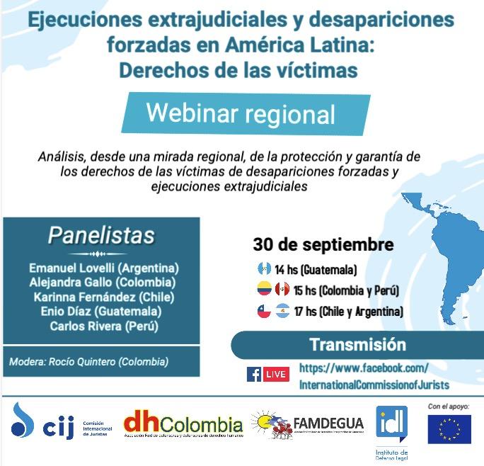 Panorama de las desapariciones forzadas y ejecuciones extrajudiciales en Colombia, Guatemala y Perú